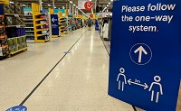 How are supermarkets responding to COVID-19?
