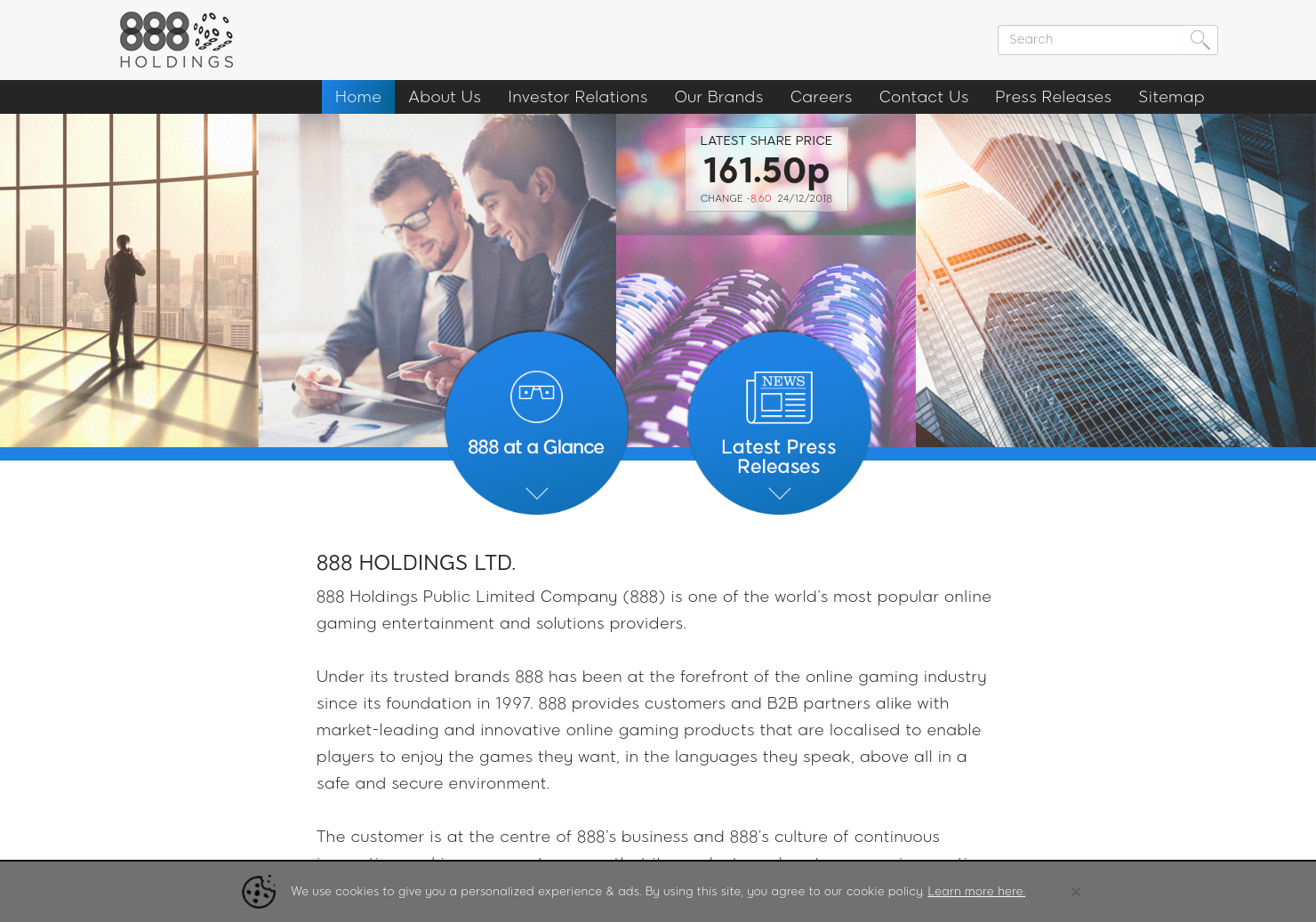 888 Holdings Home Page