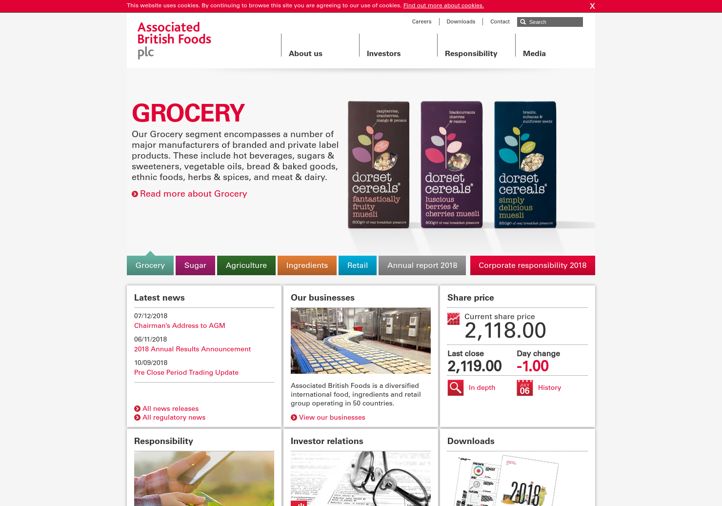 AB Foods Home Page
