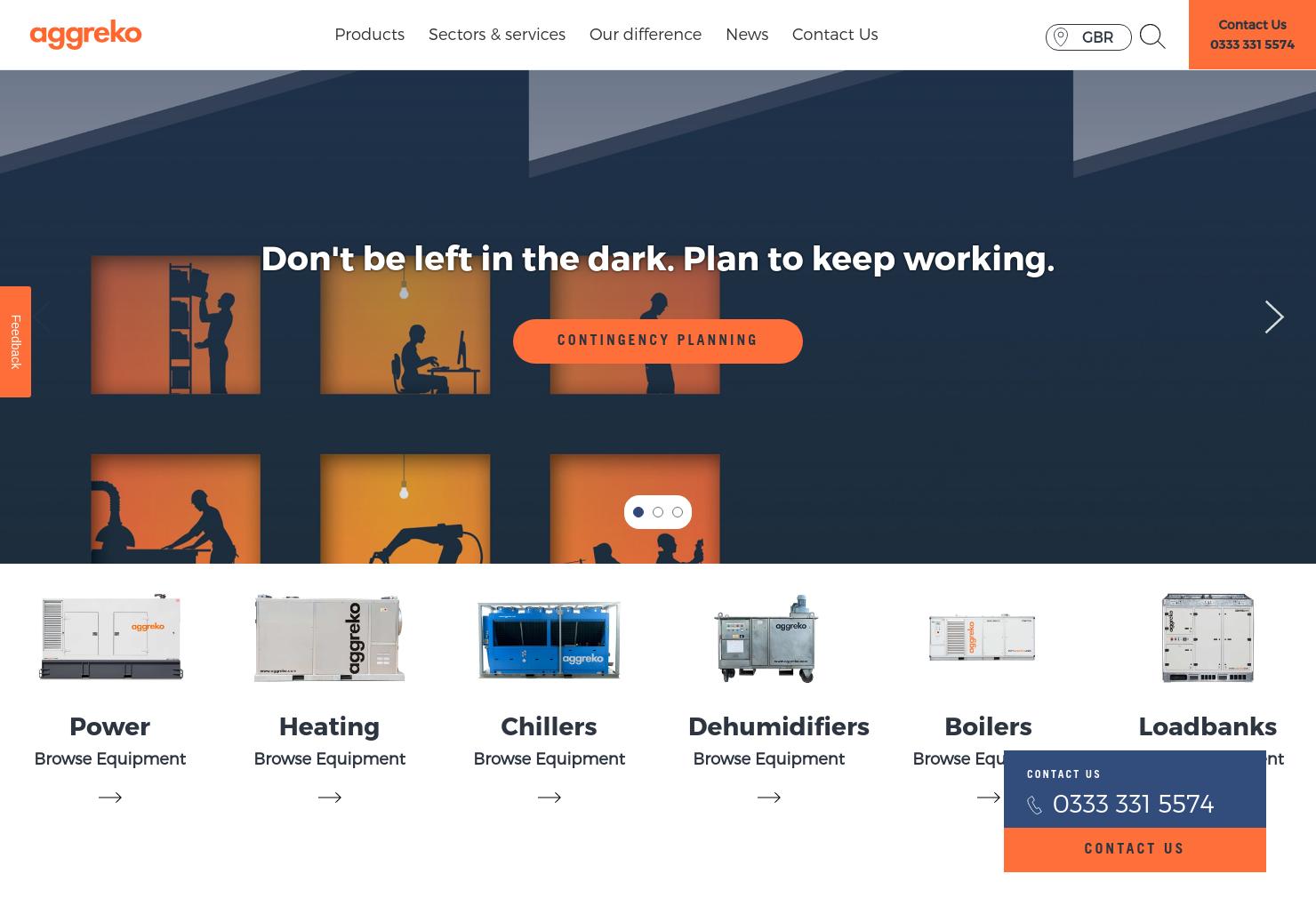 Aggreko Home Page