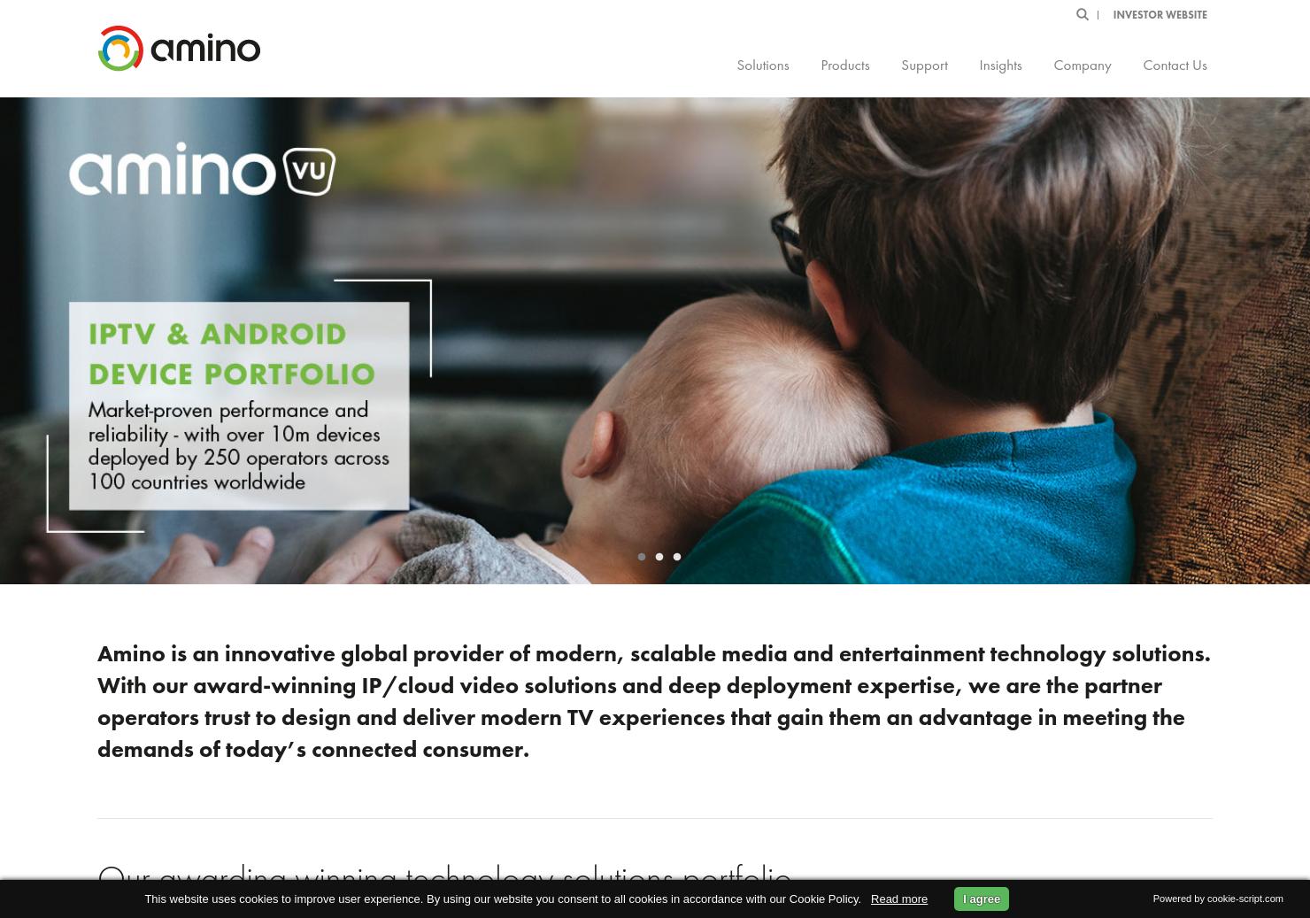 Amino Technologies Home Page