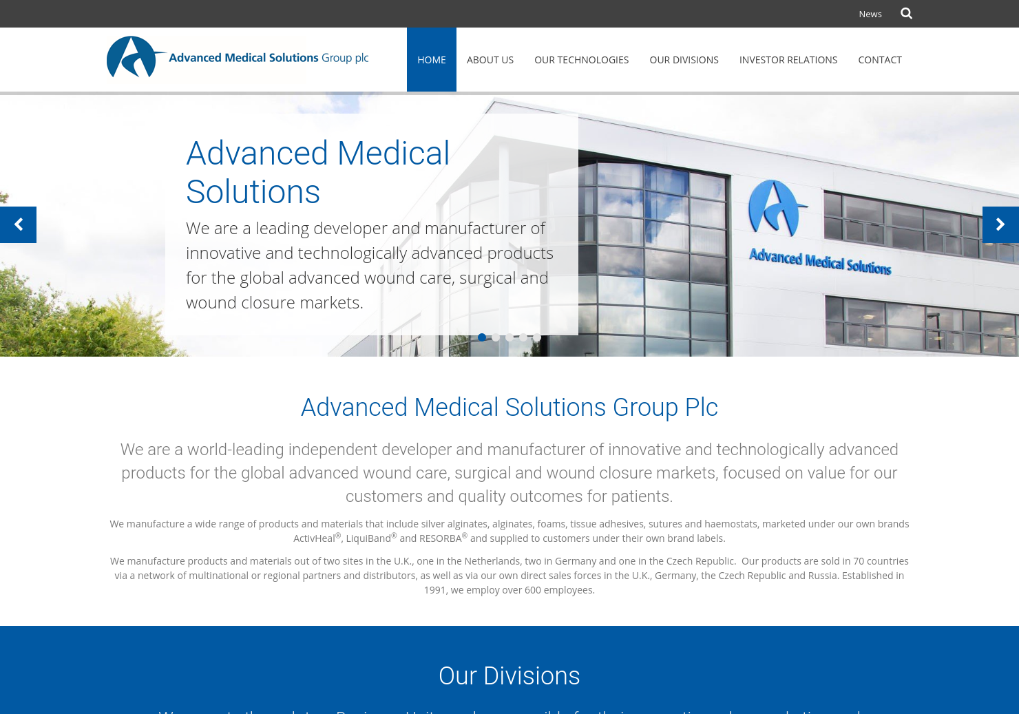 Advanced Medical Solutions Group Home Page