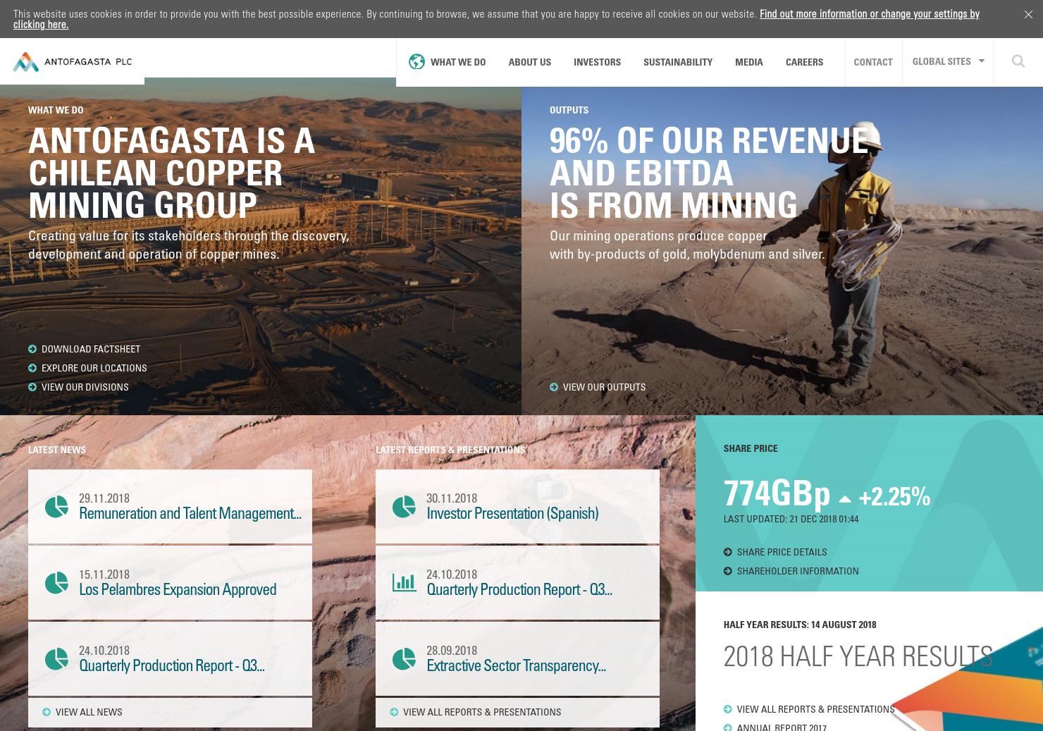 Antofagasta Home Page
