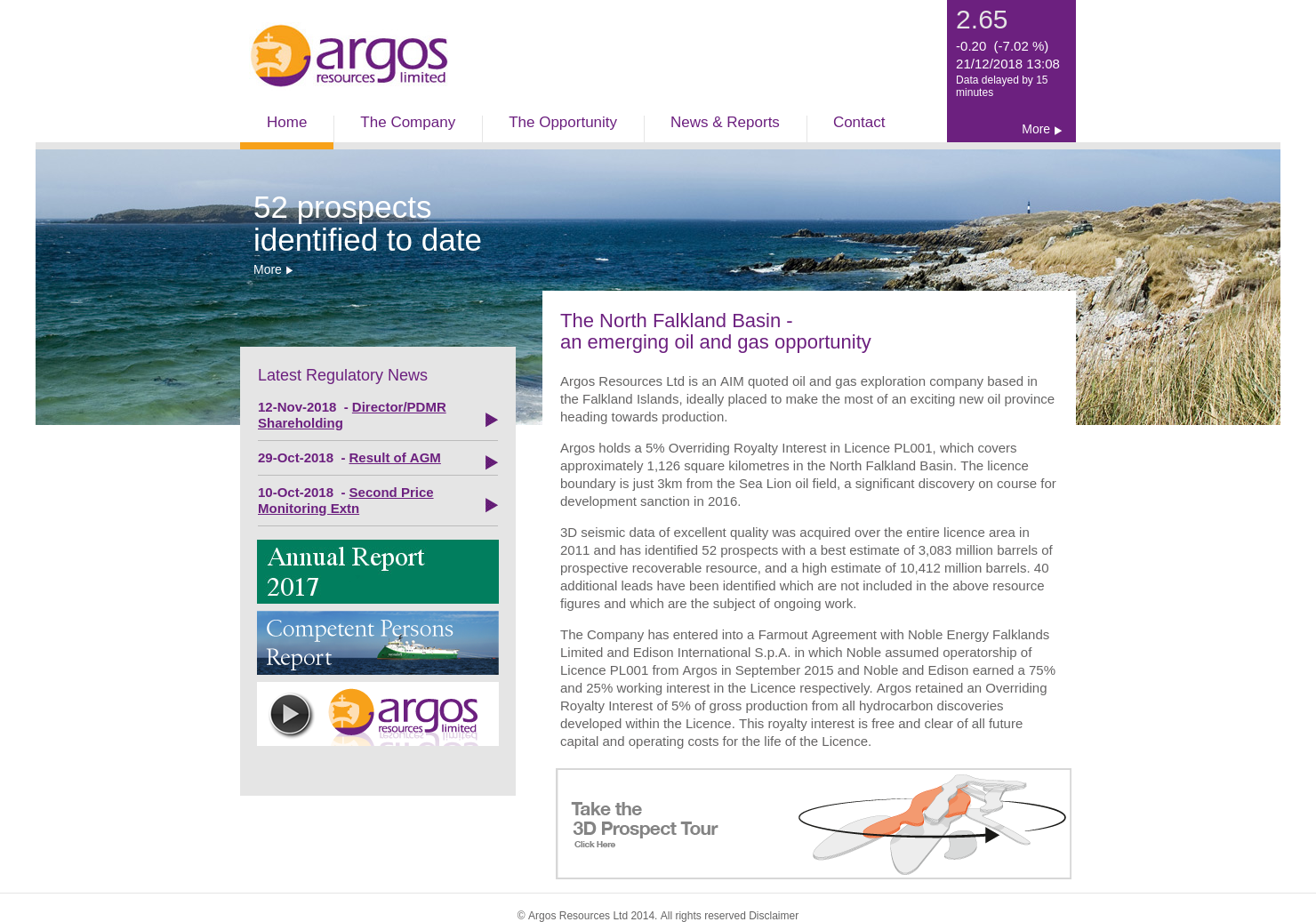 Argos Resources Home Page