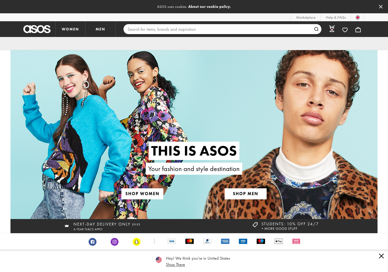 ASOS Home Page