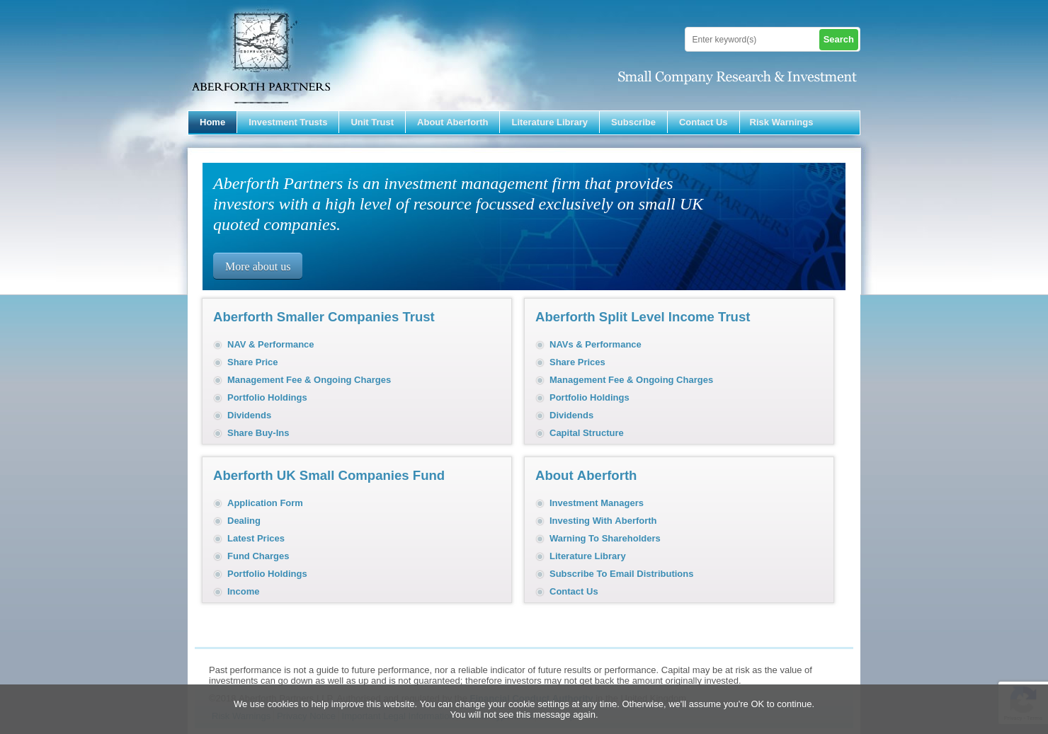 Aberforth Smaller Companies Trust Plc Home Page