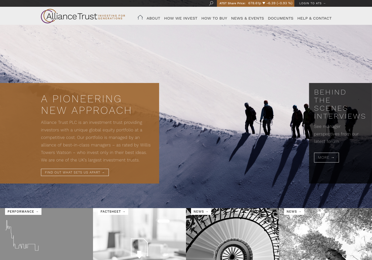 Alliance Trust Home Page
