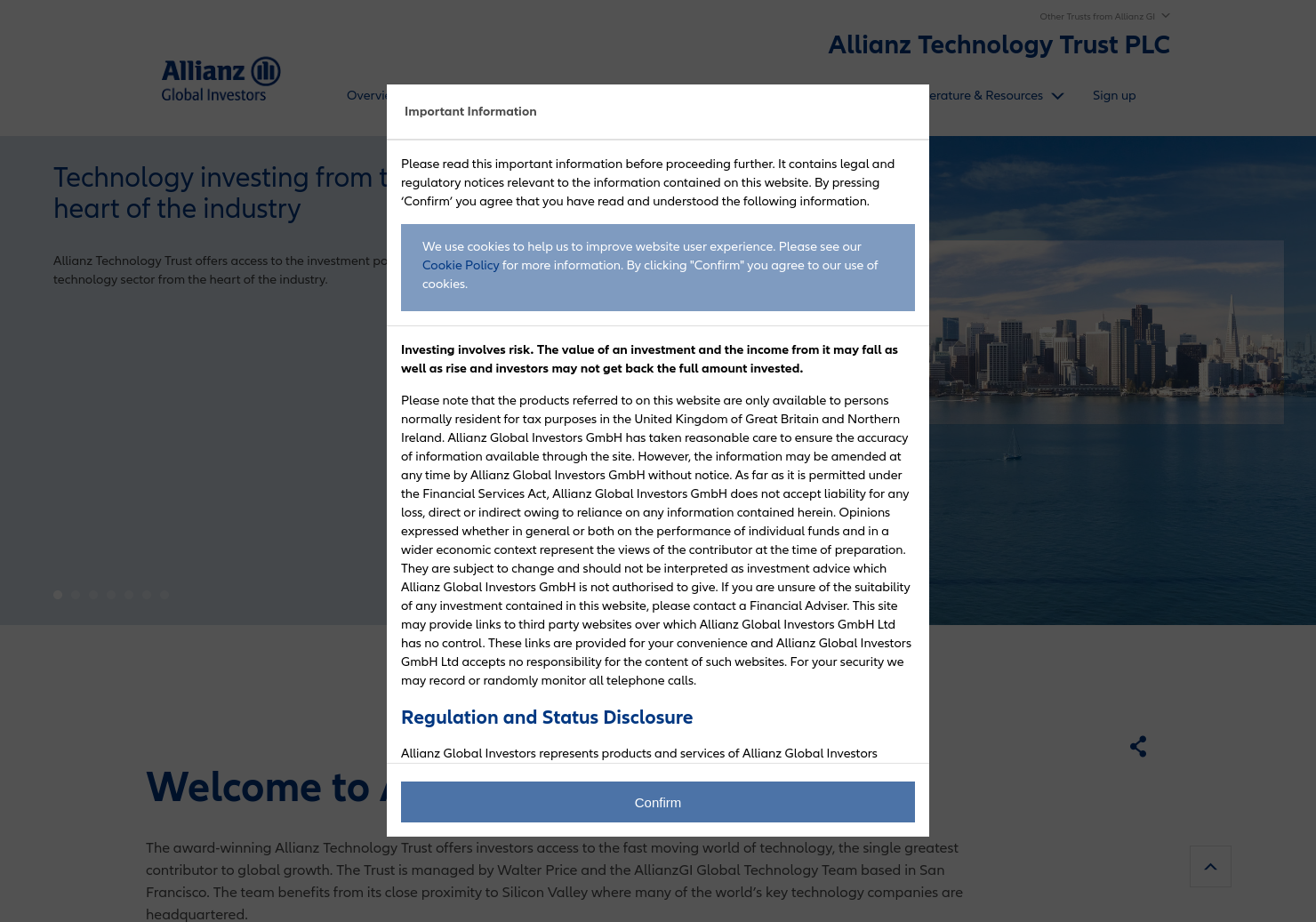 Allianz Technology Trust Home Page