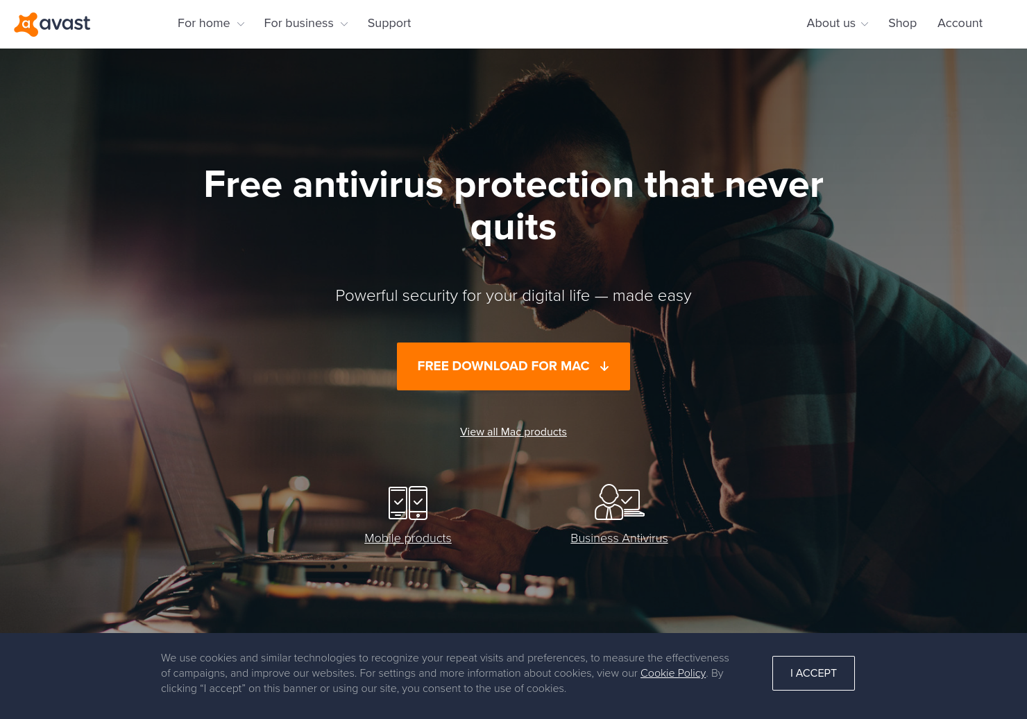 Avast Home Page