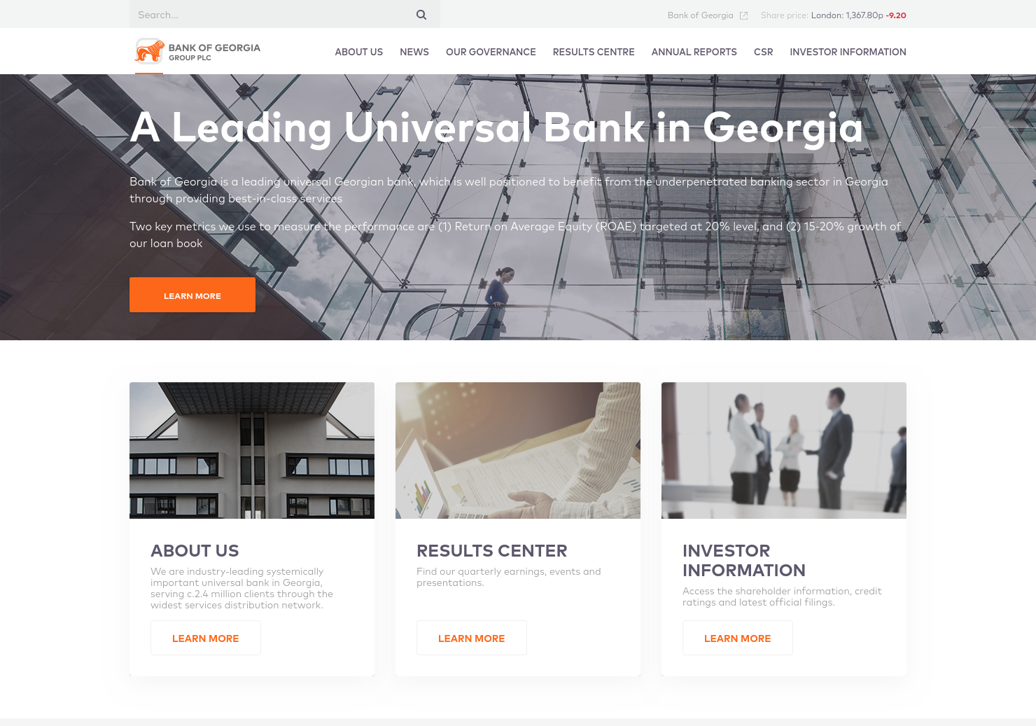 Bank Of Georgia Group Home Page