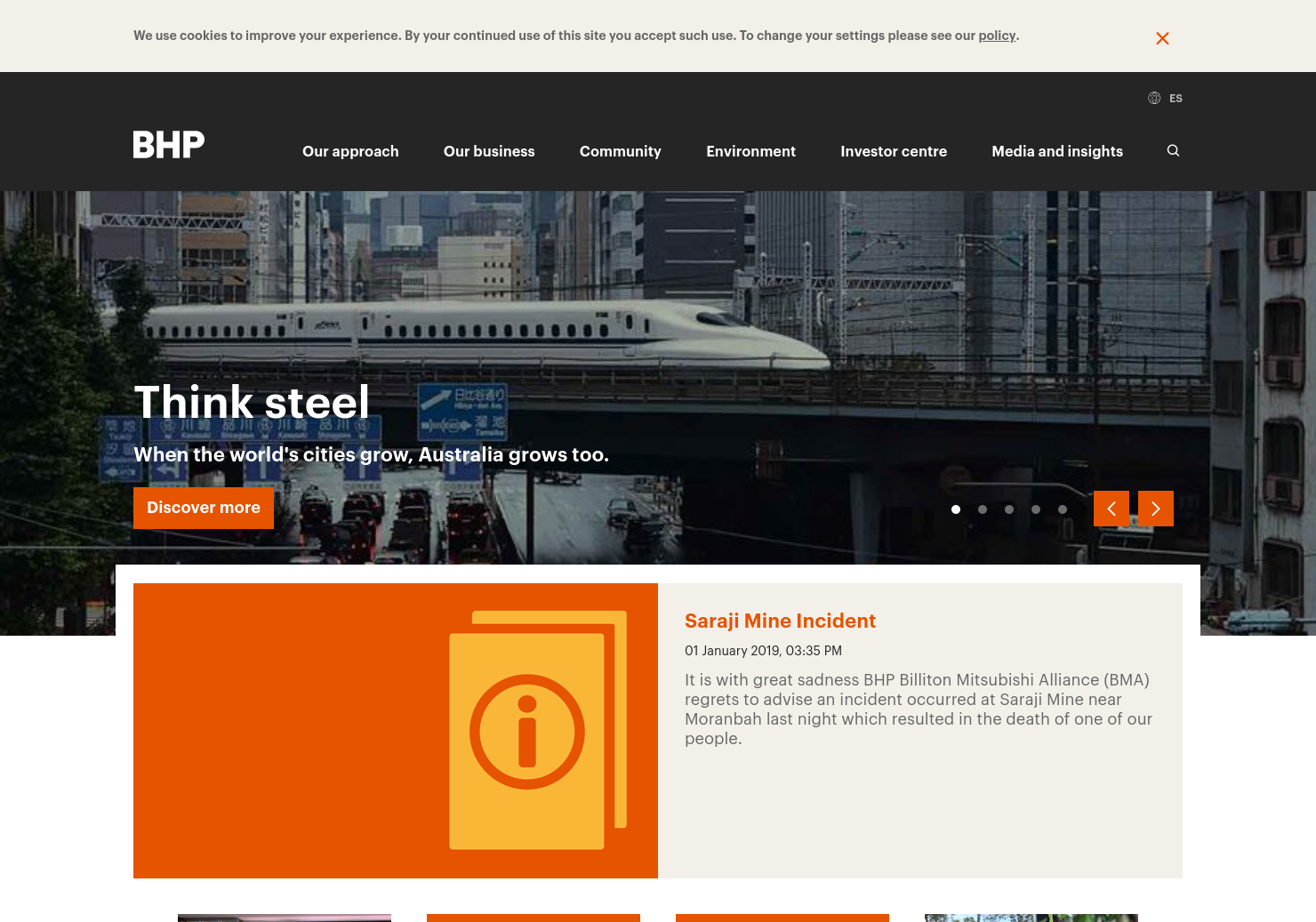 BHP Group Home Page