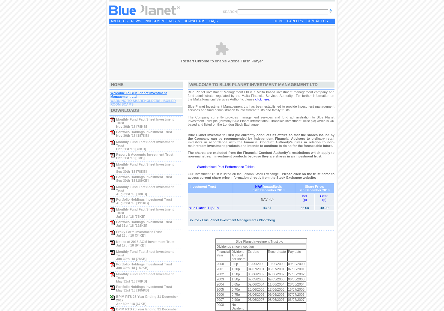 Blue Planet Home Page