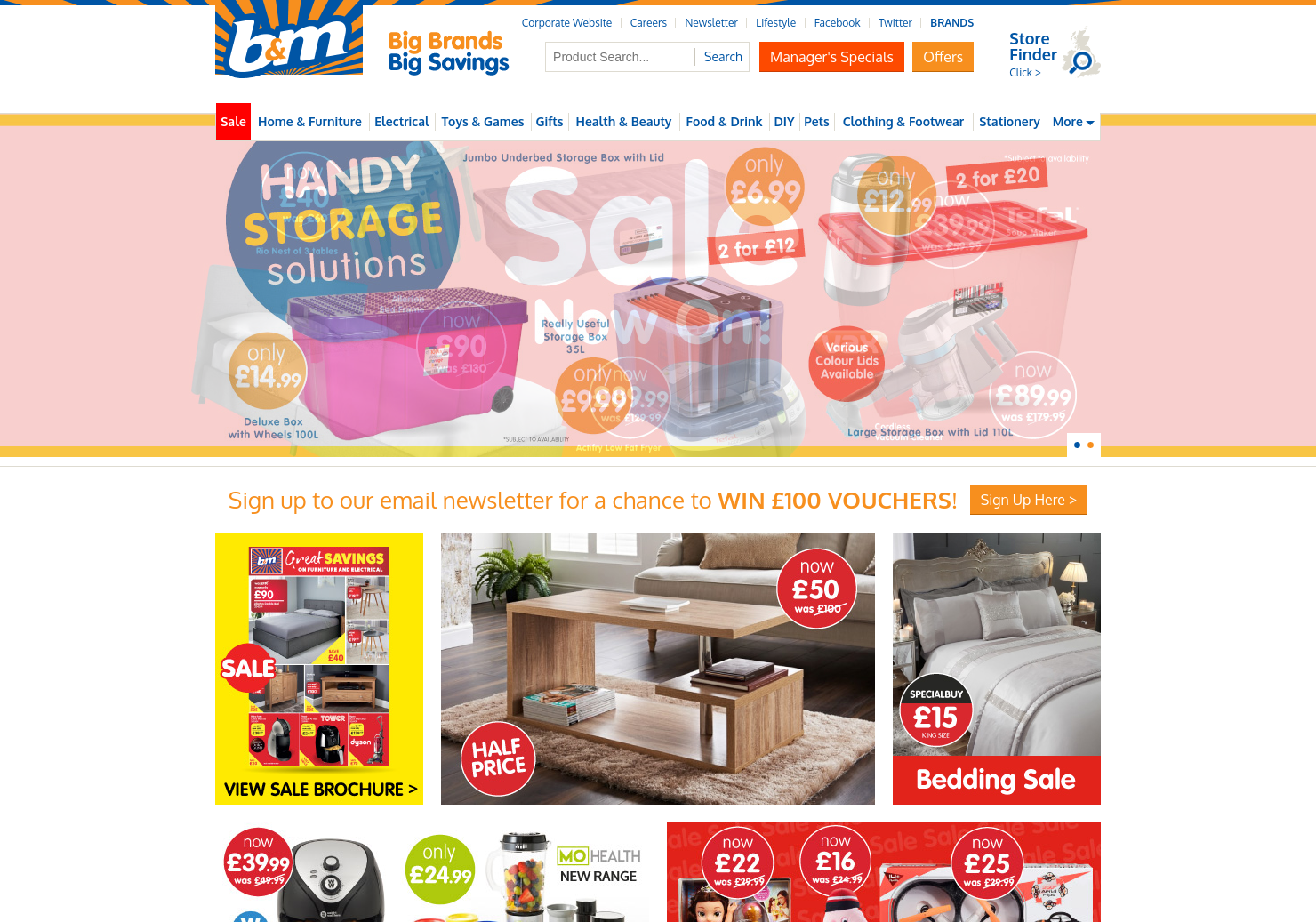 B&M Home Page