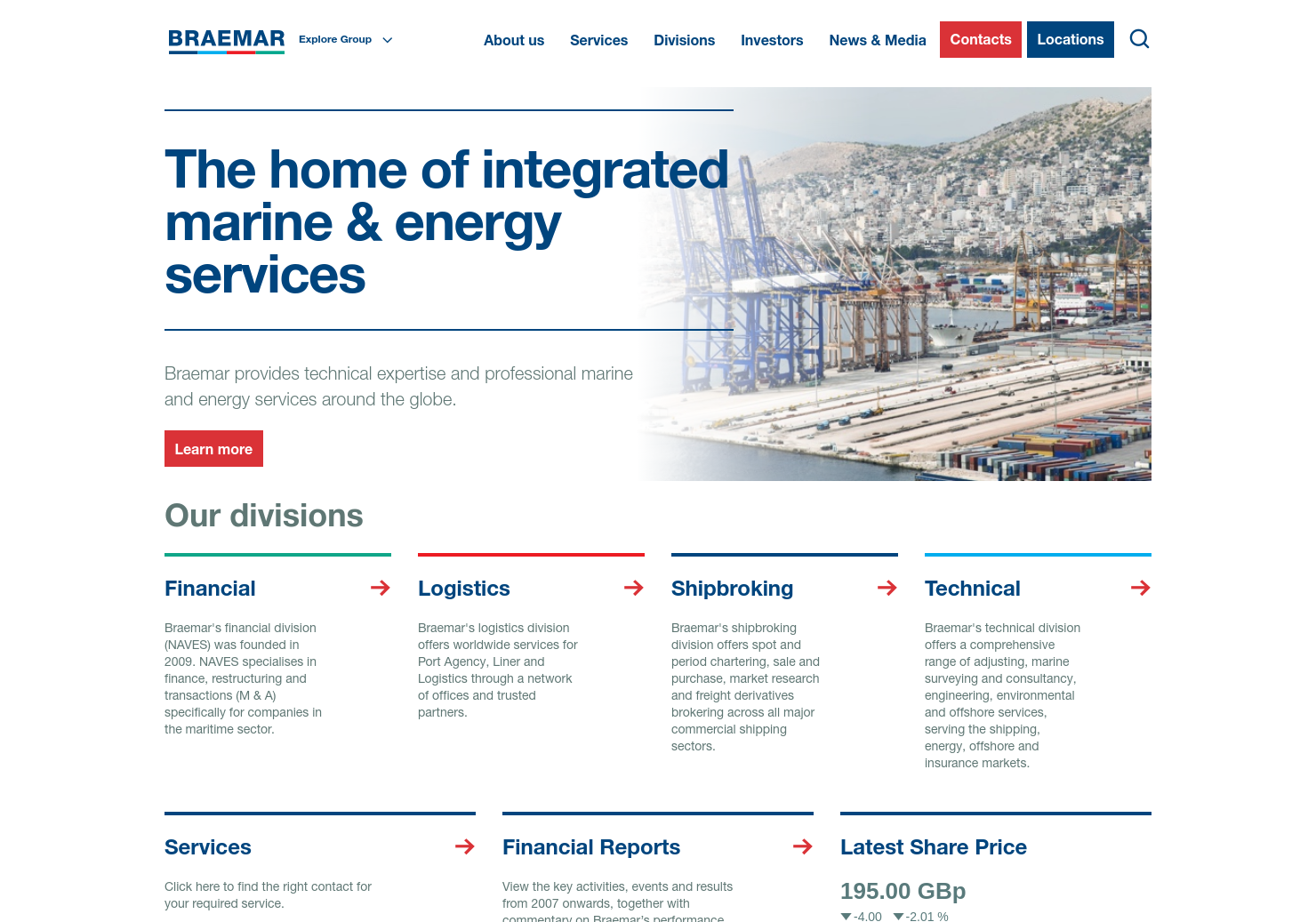 Braemar Shipping Home Page