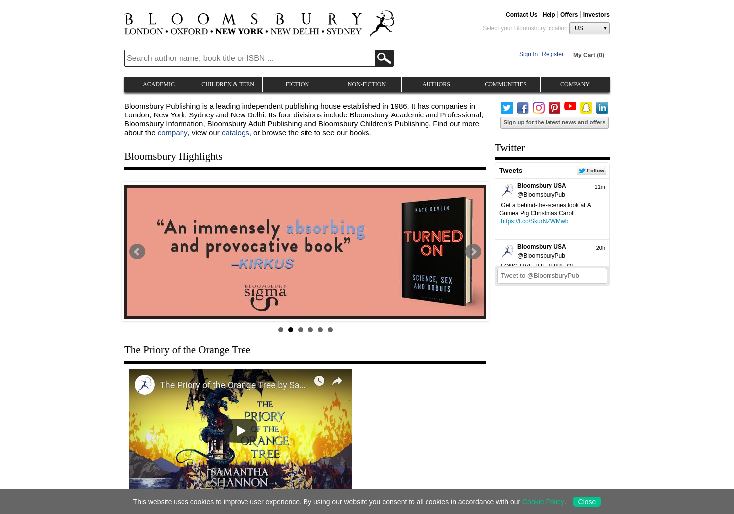 Bloomsbury Home Page