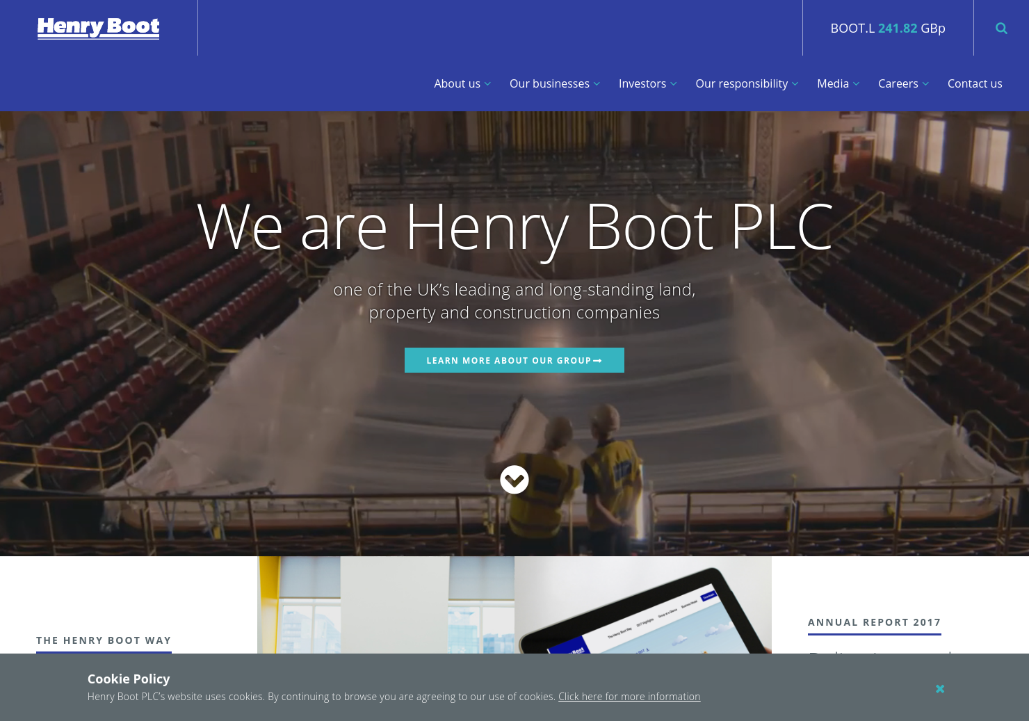 Henry Boot Home Page