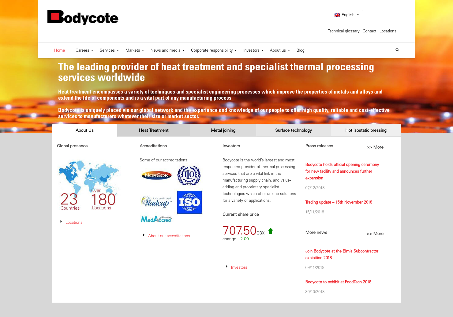 Bodycote Home Page