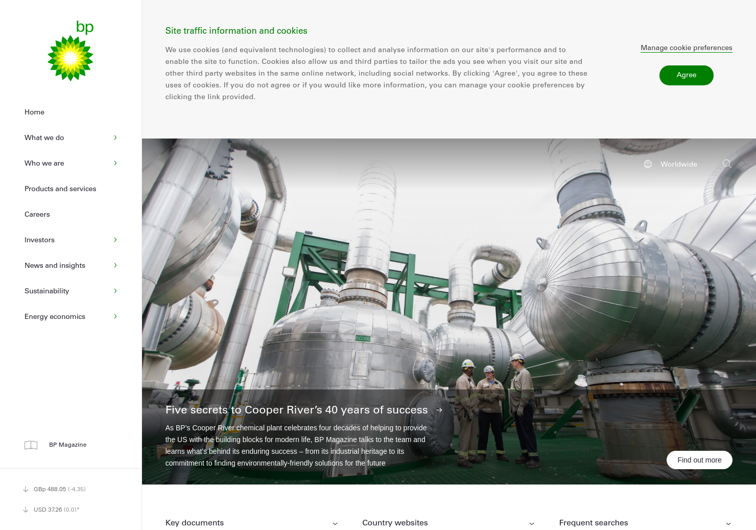 BP Home Page