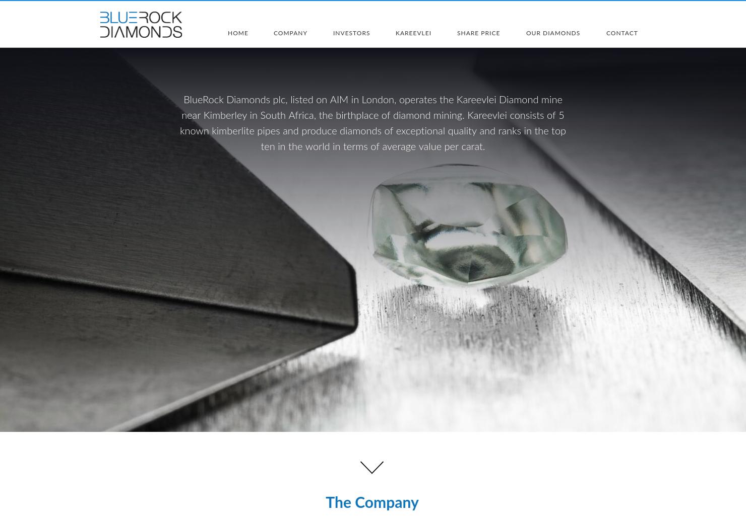 BlueRock Diamonds  Home Page