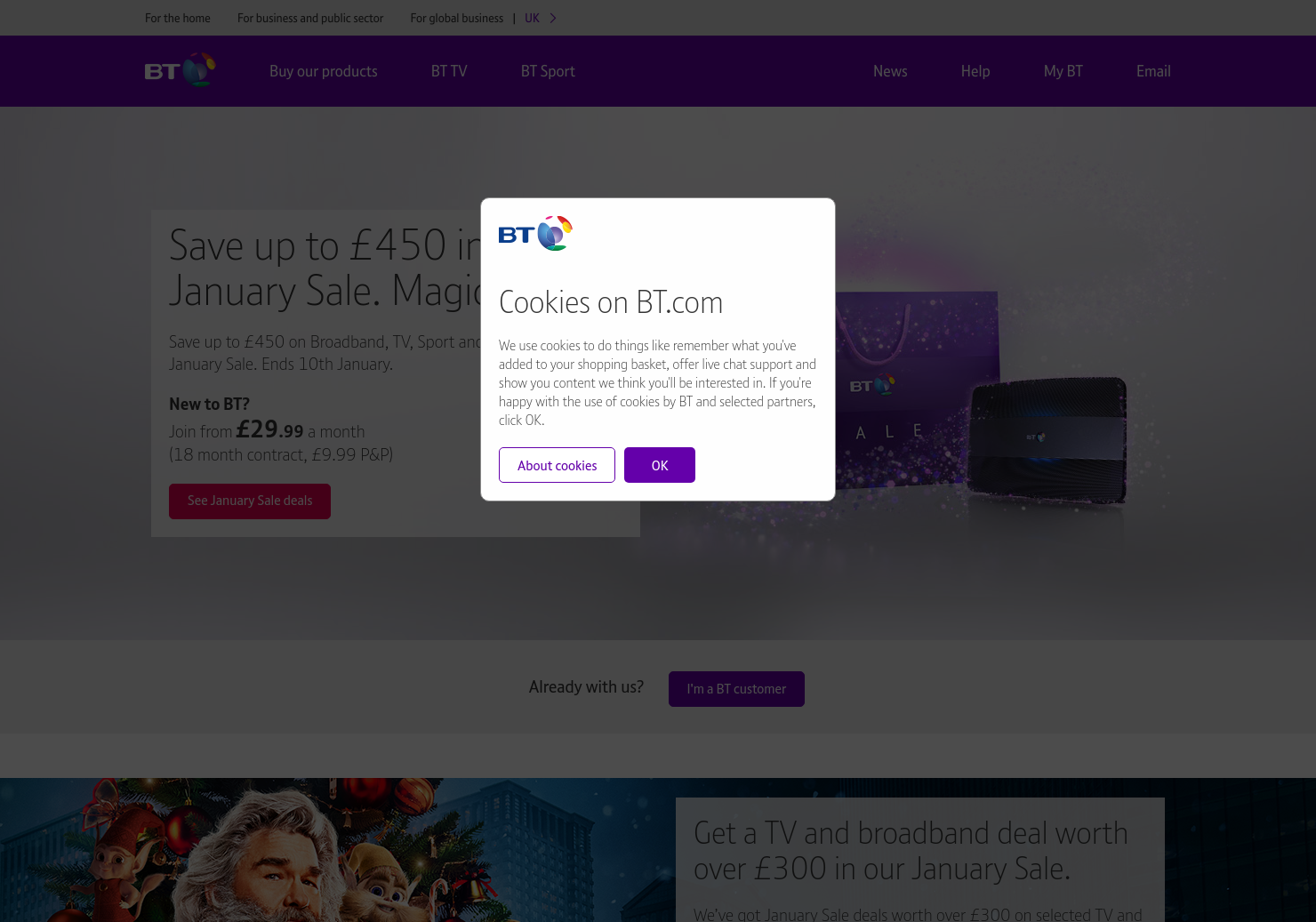 BT Home Page