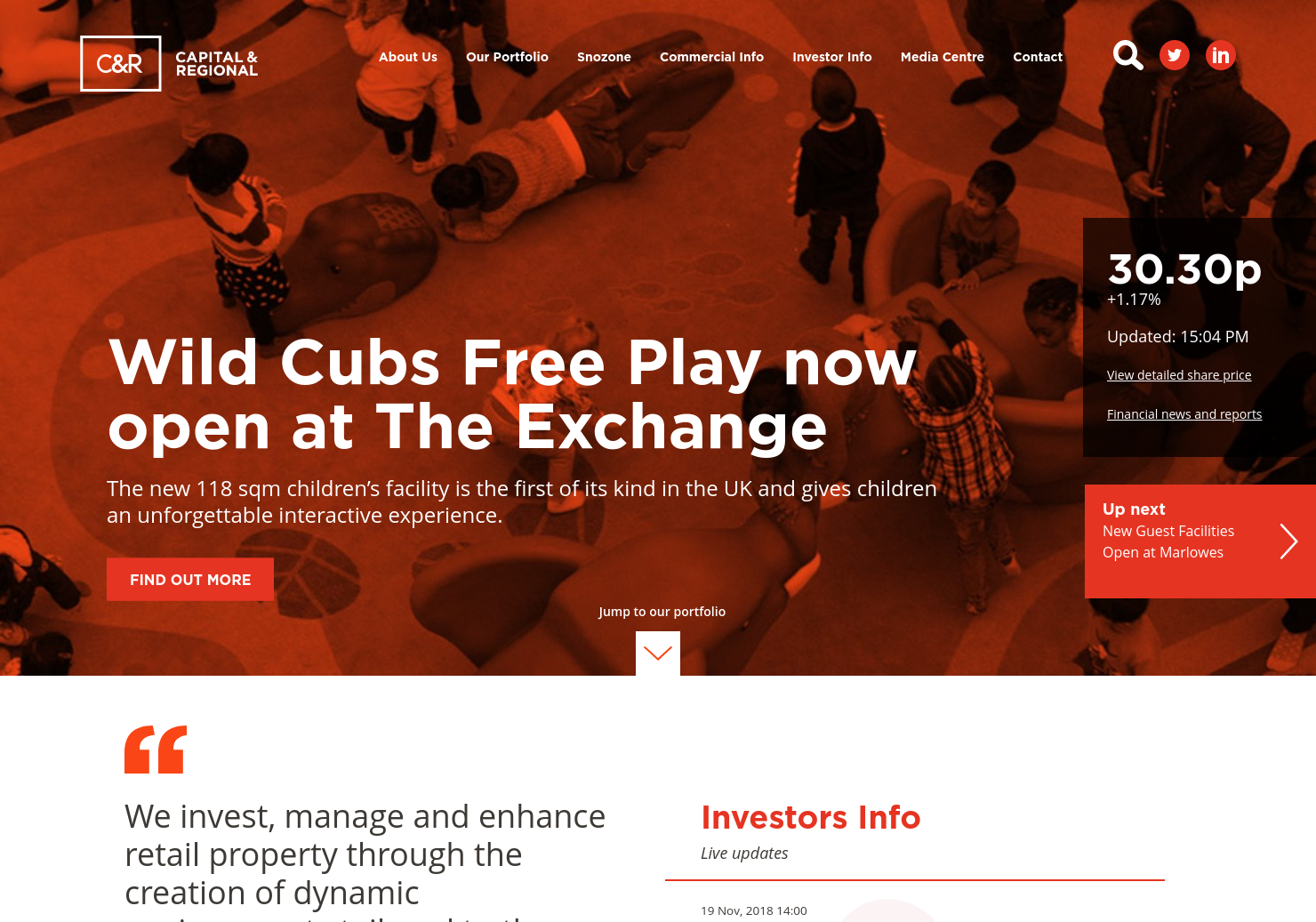 Capital & Regional Home Page