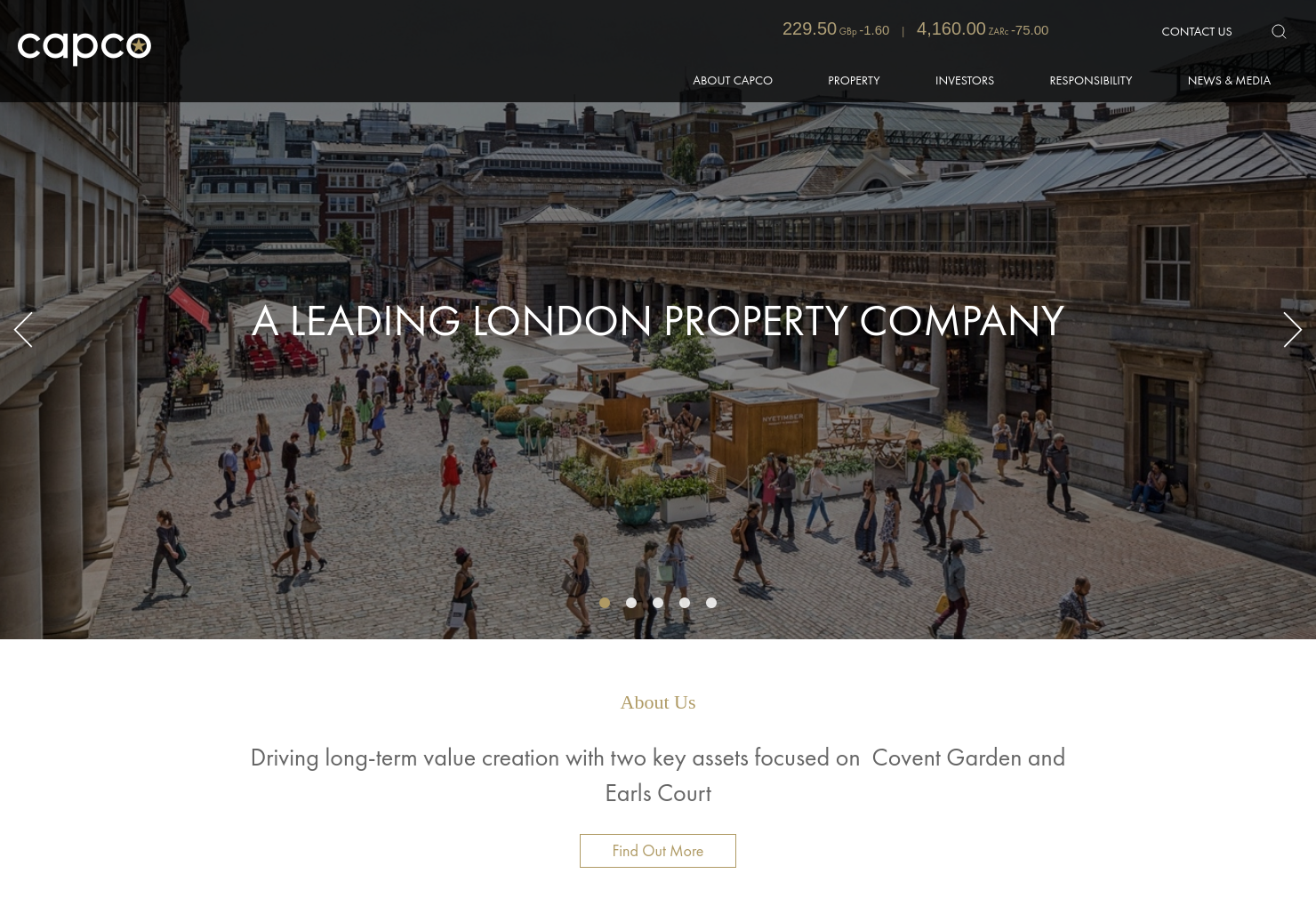 Capital & Counties Home Page