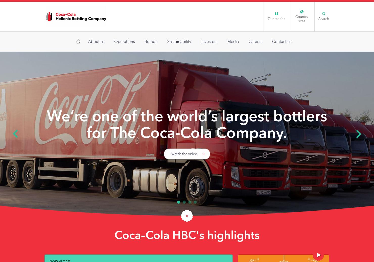 Coca-Cola HBC Home Page