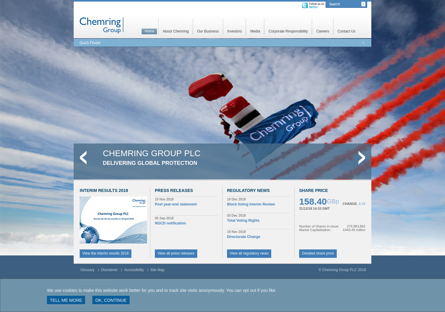 Chemring Home Page
