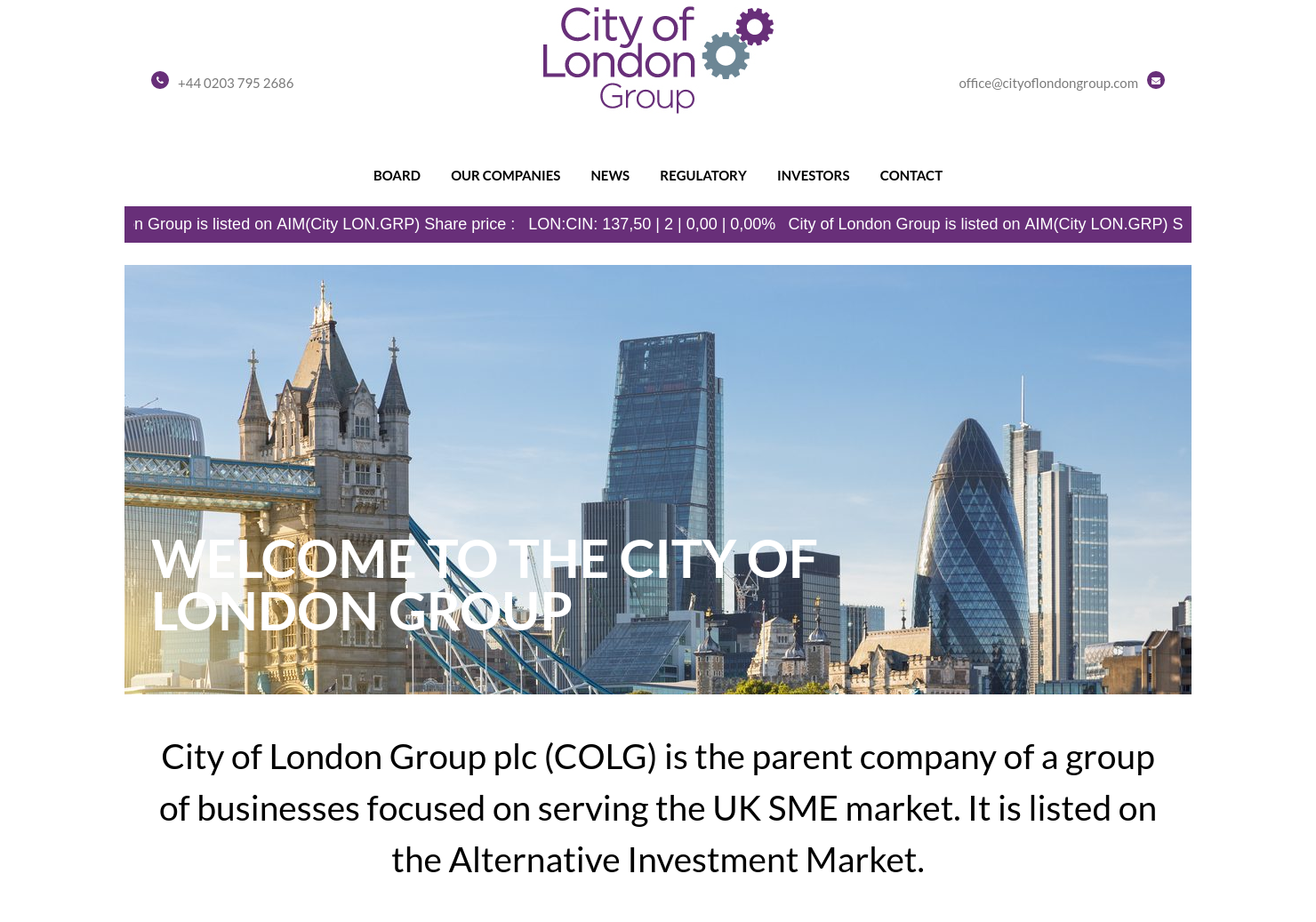 City Of London Home Page