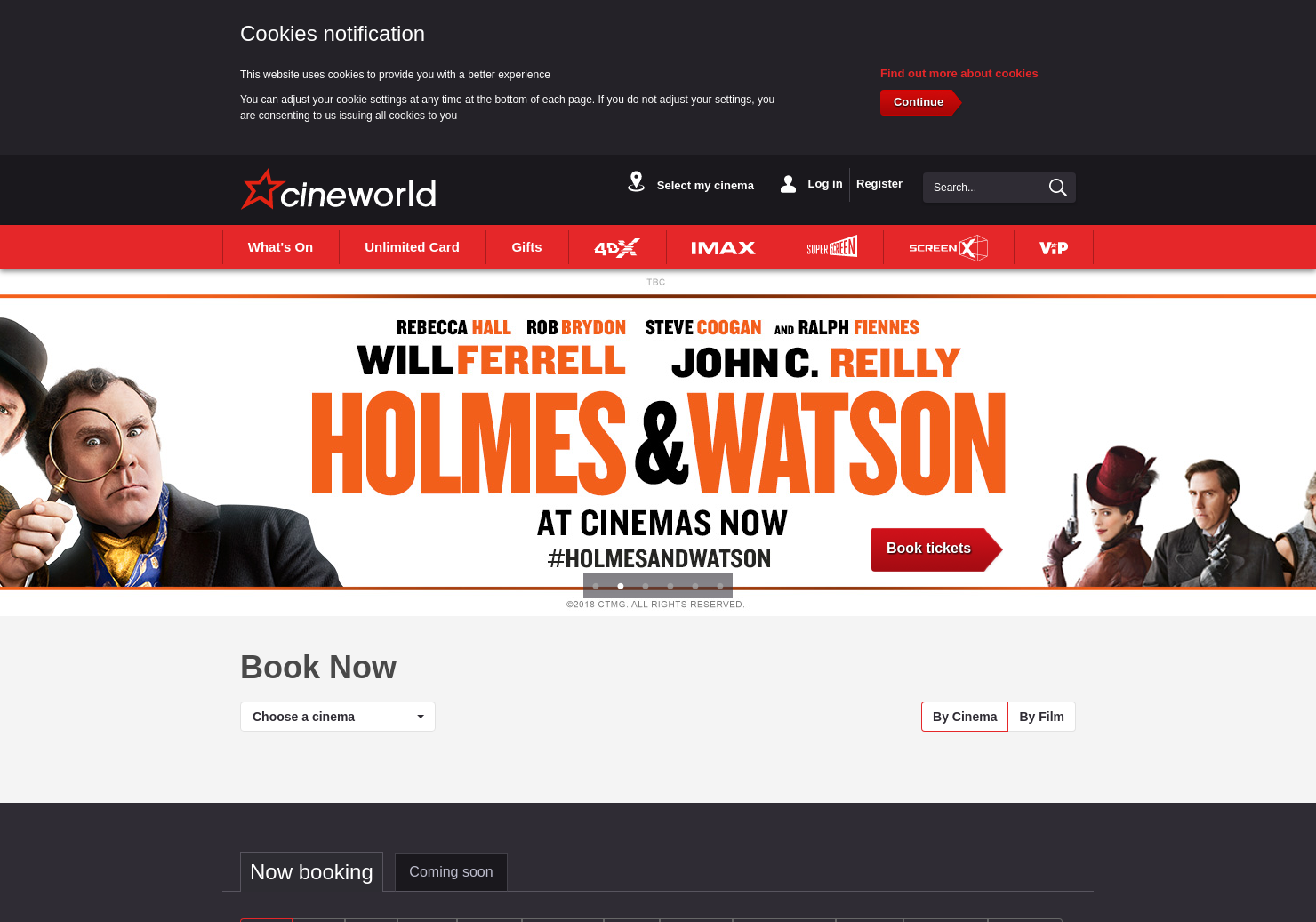 Cineworld Home Page