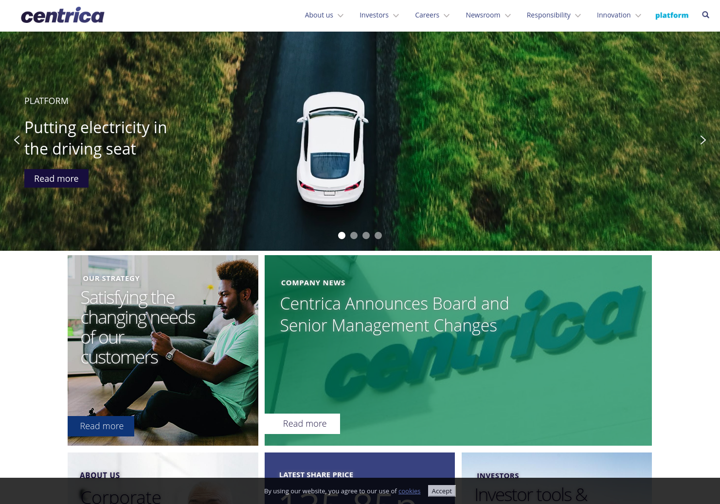 Centrica Home Page