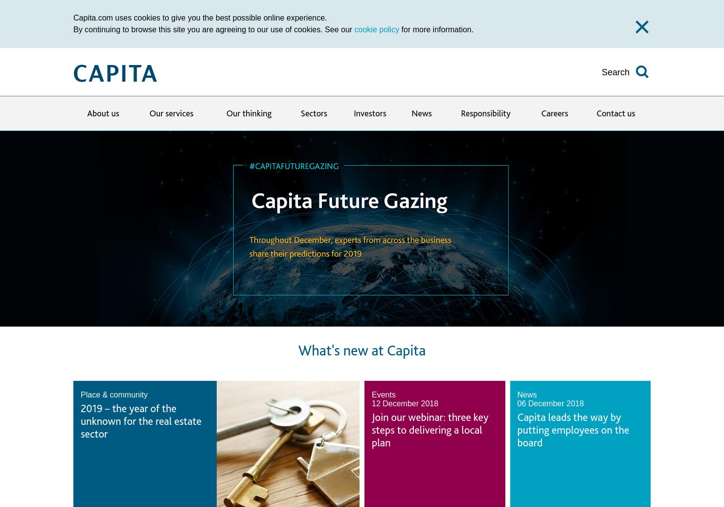 Capita Home Page