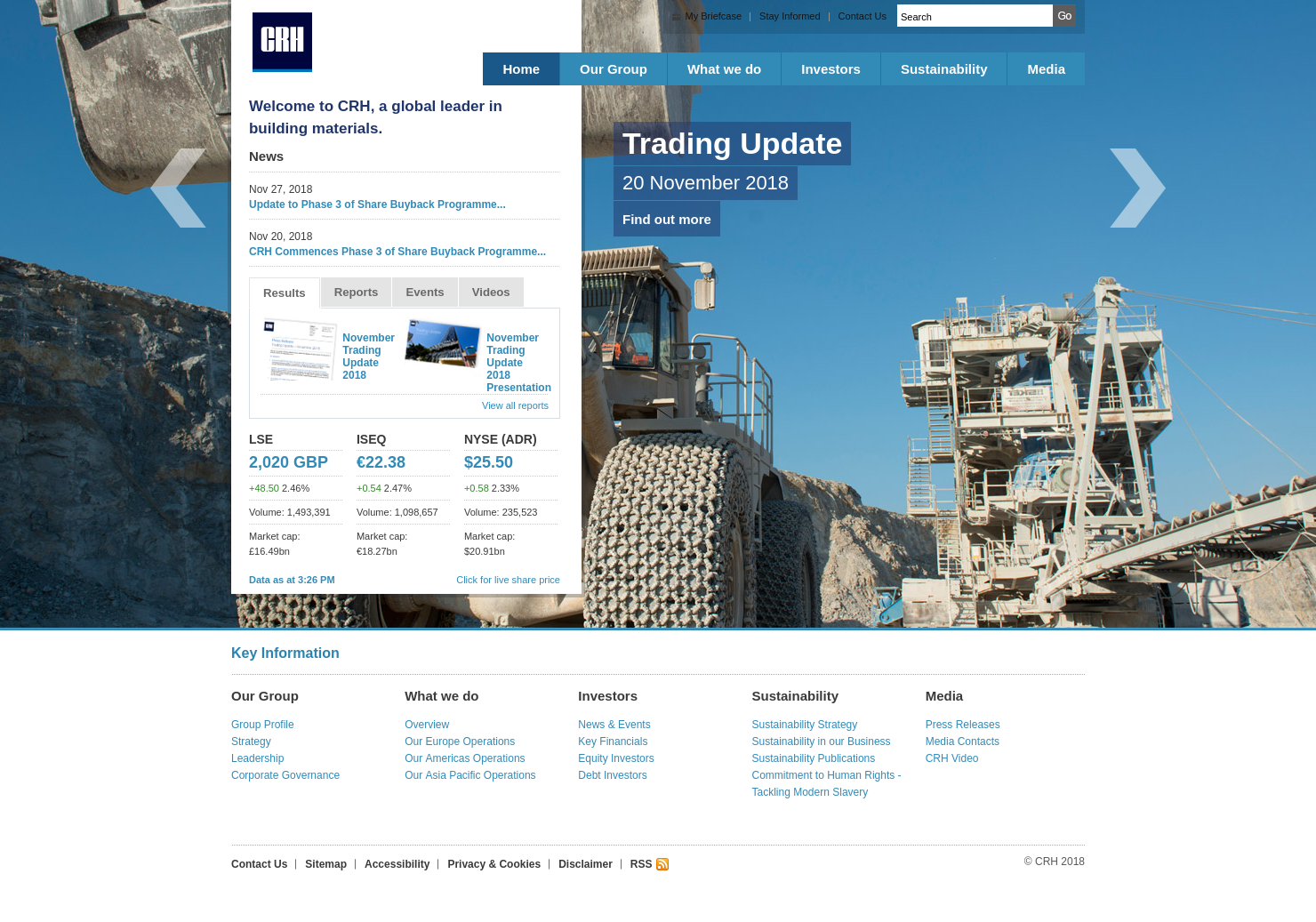 CRH Home Page