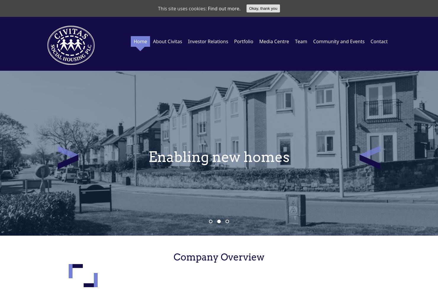 Civitas Social Housing Home Page