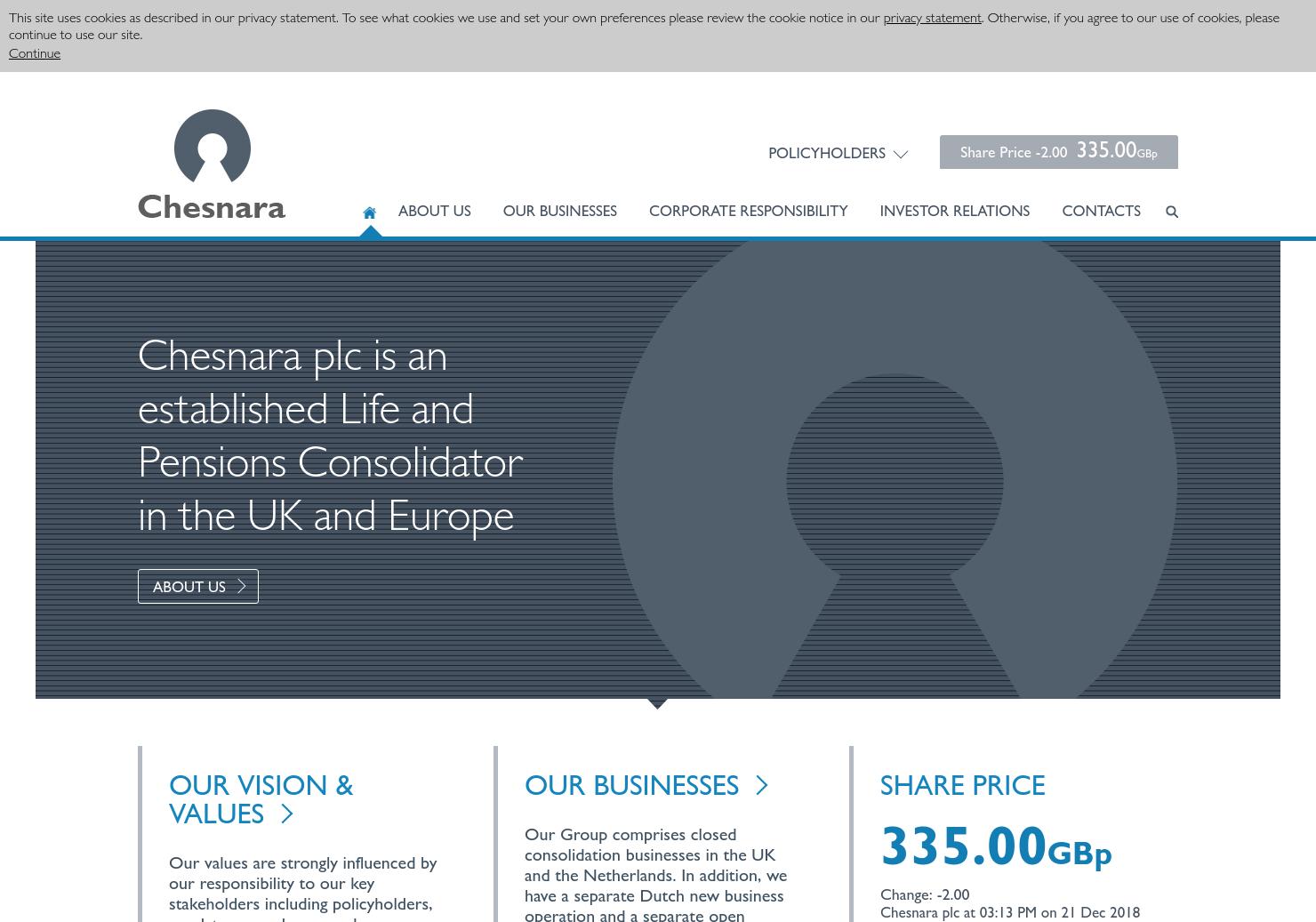 Chesnara Home Page