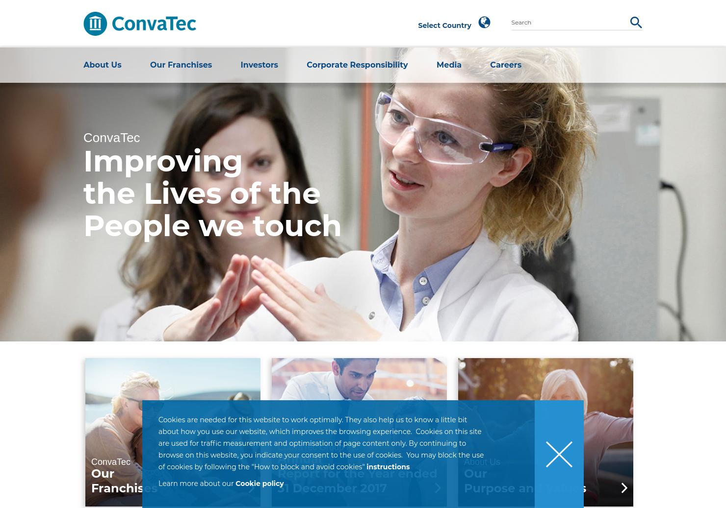 ConvaTec Home Page