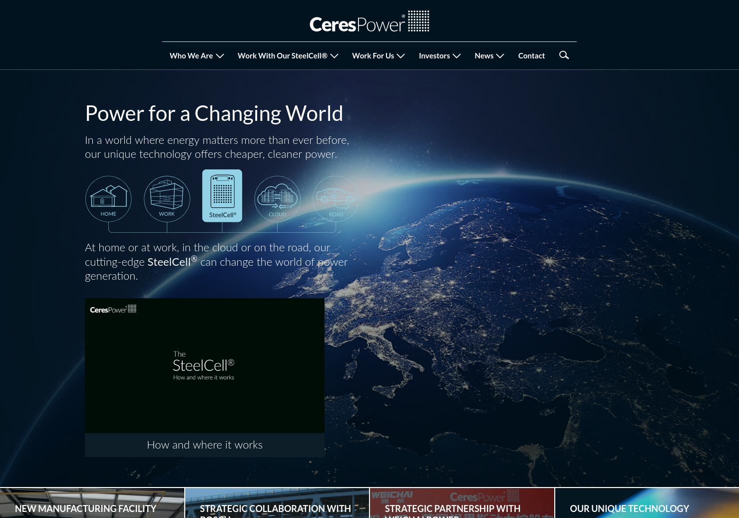 Ceres Power Home Page