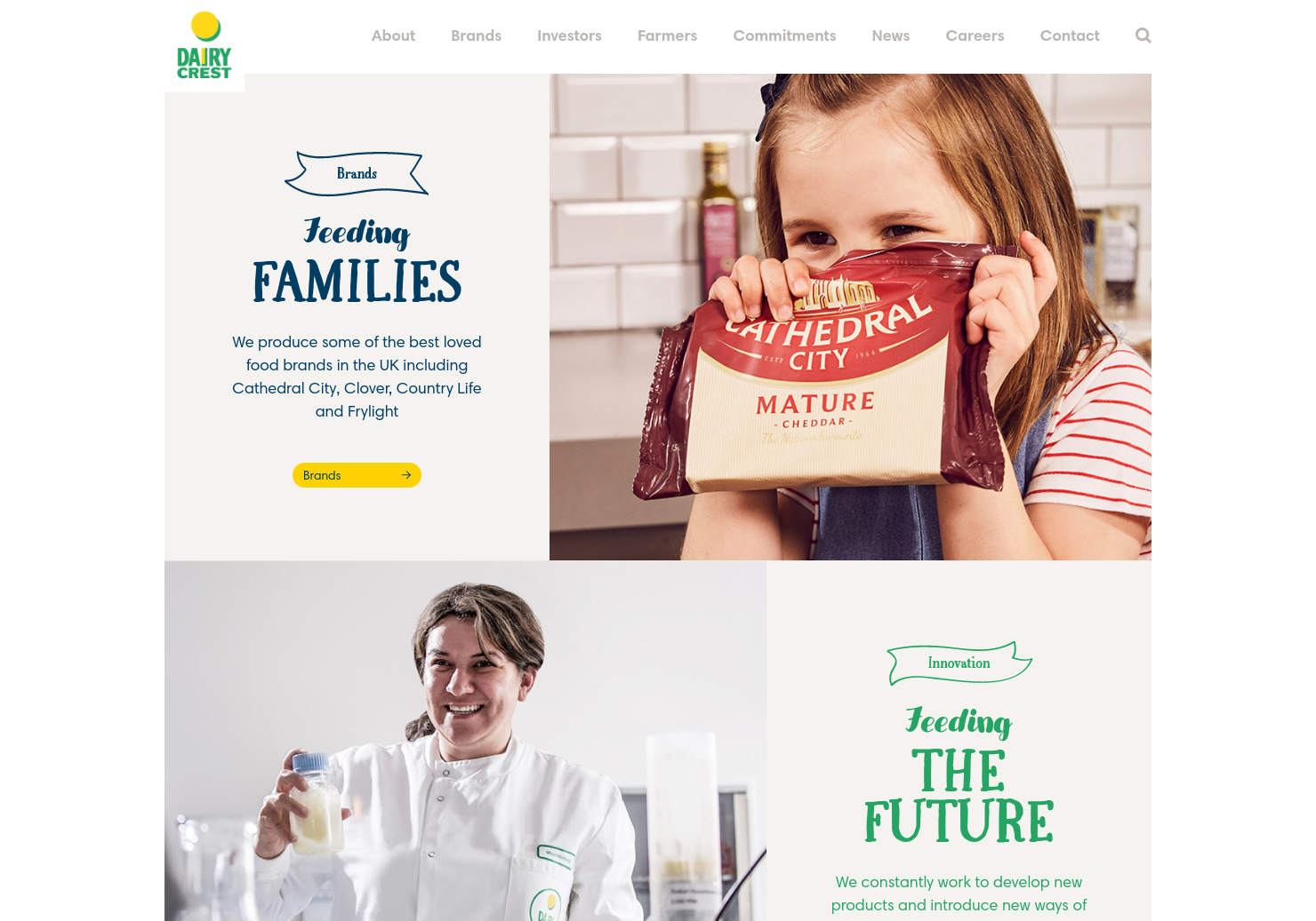 Dairy Crest Home Page