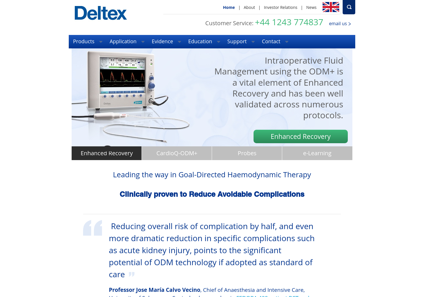 Deltex Medical Home Page