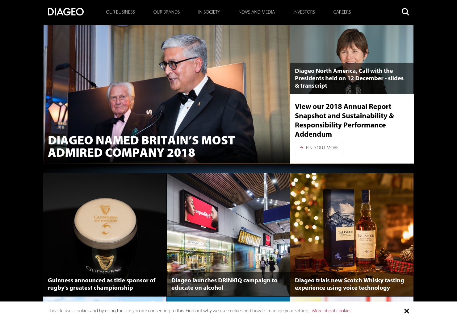Diageo Home Page