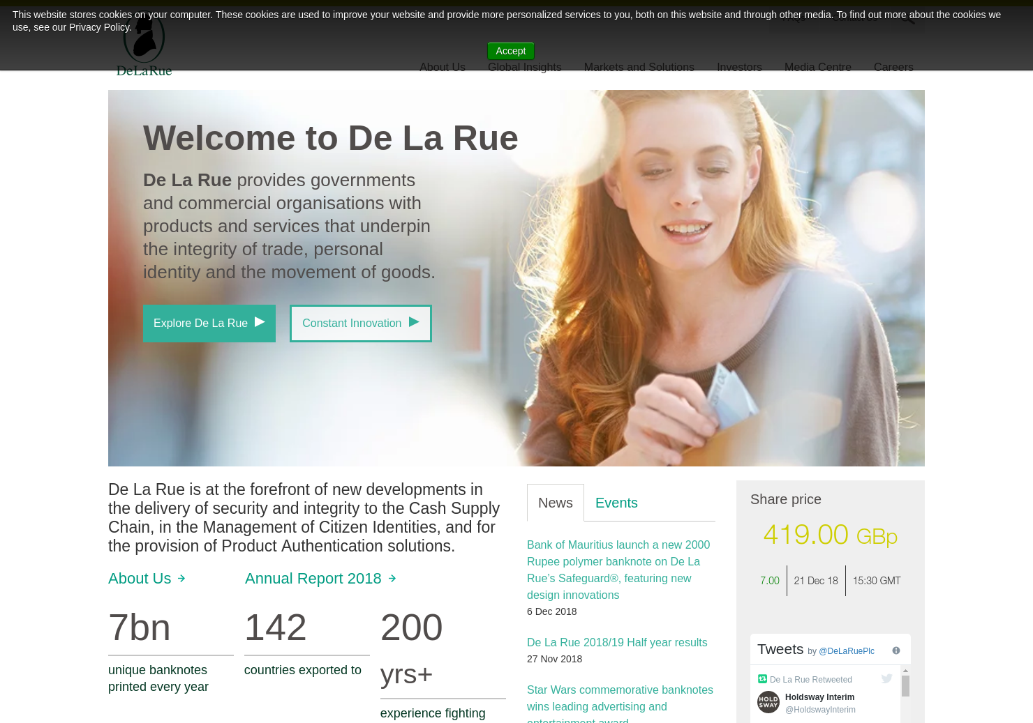 De La Rue Home Page