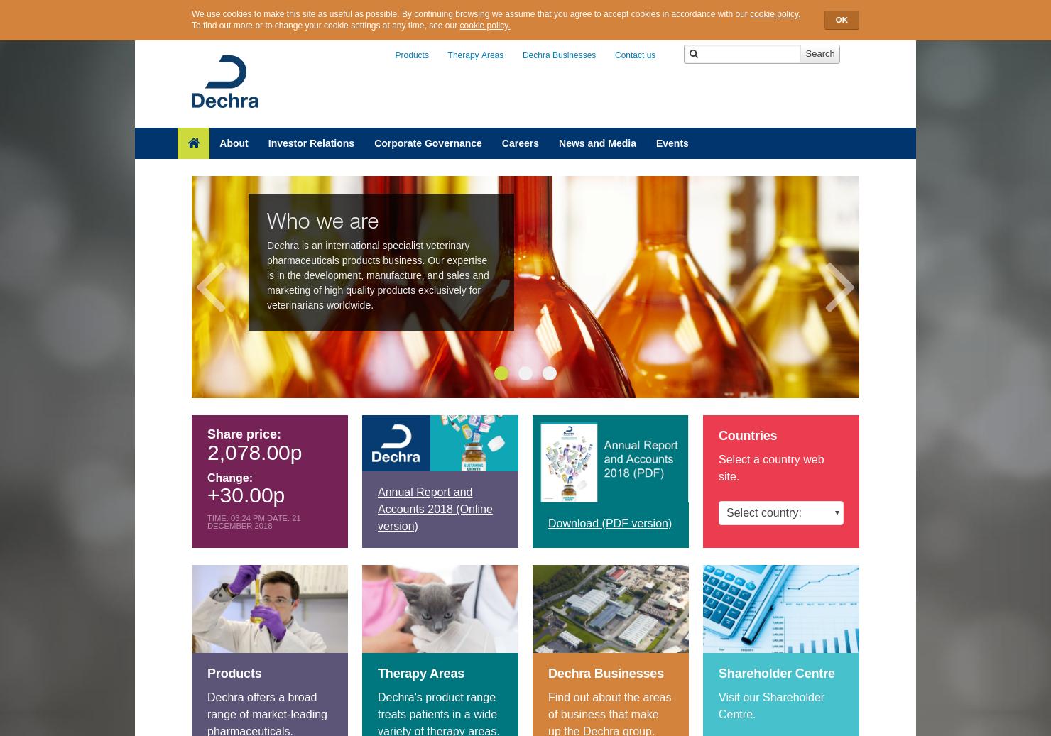 Dechra Home Page