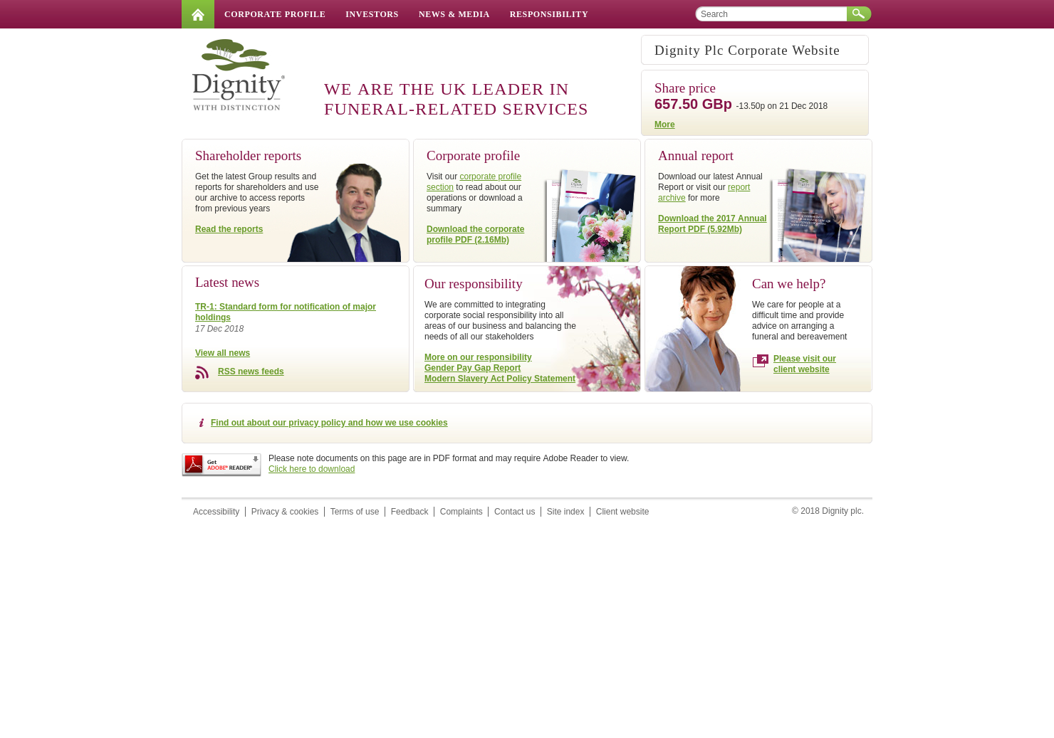 Dignity Home Page