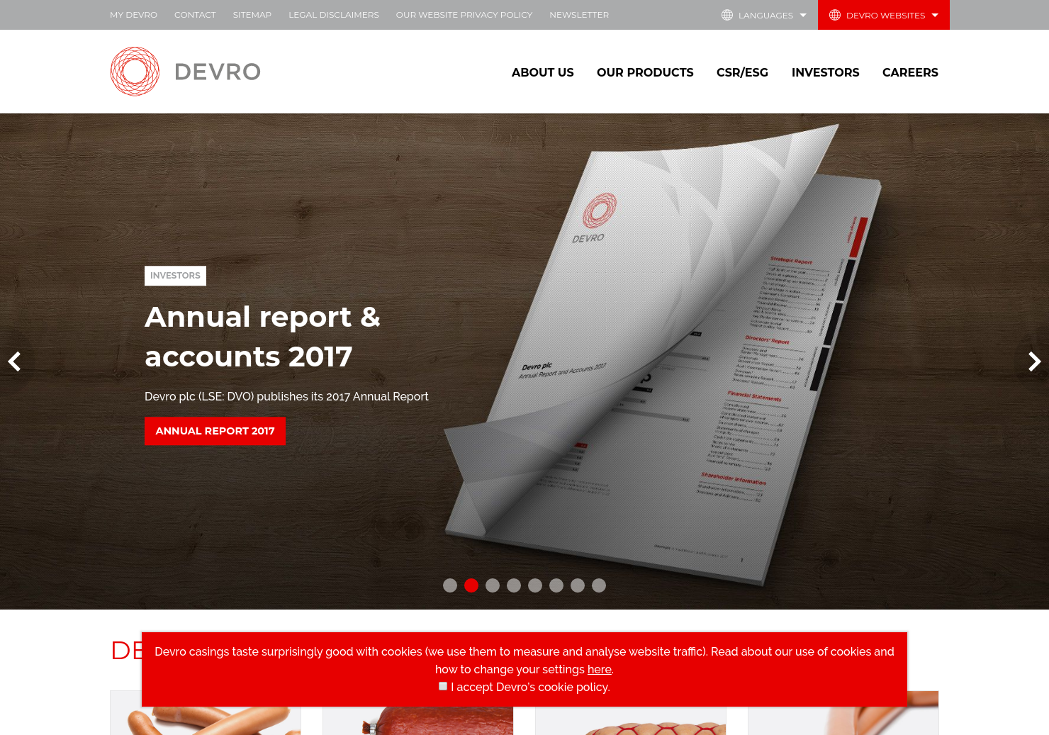 Devro Home Page