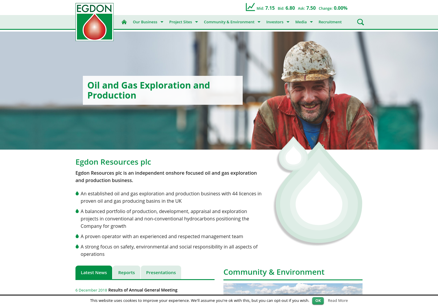 Egdon Resources Home Page