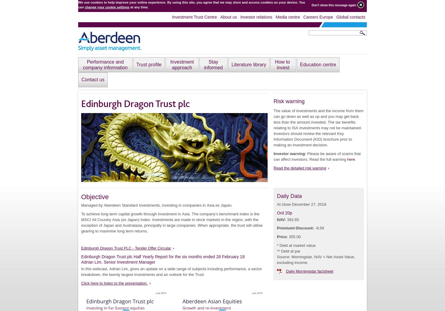 Edinburgh Dragon Trust plc Home Page
