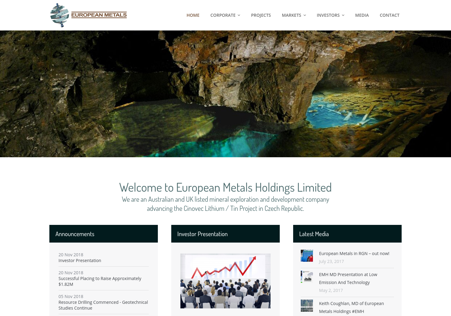 European Metals Holdings Home Page