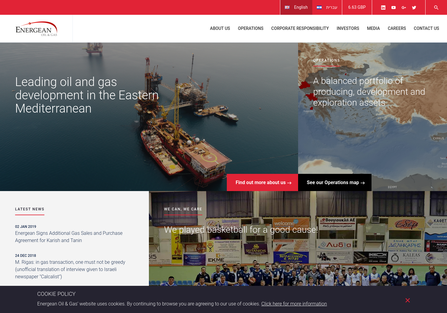 Energean Oil & Gas Home Page