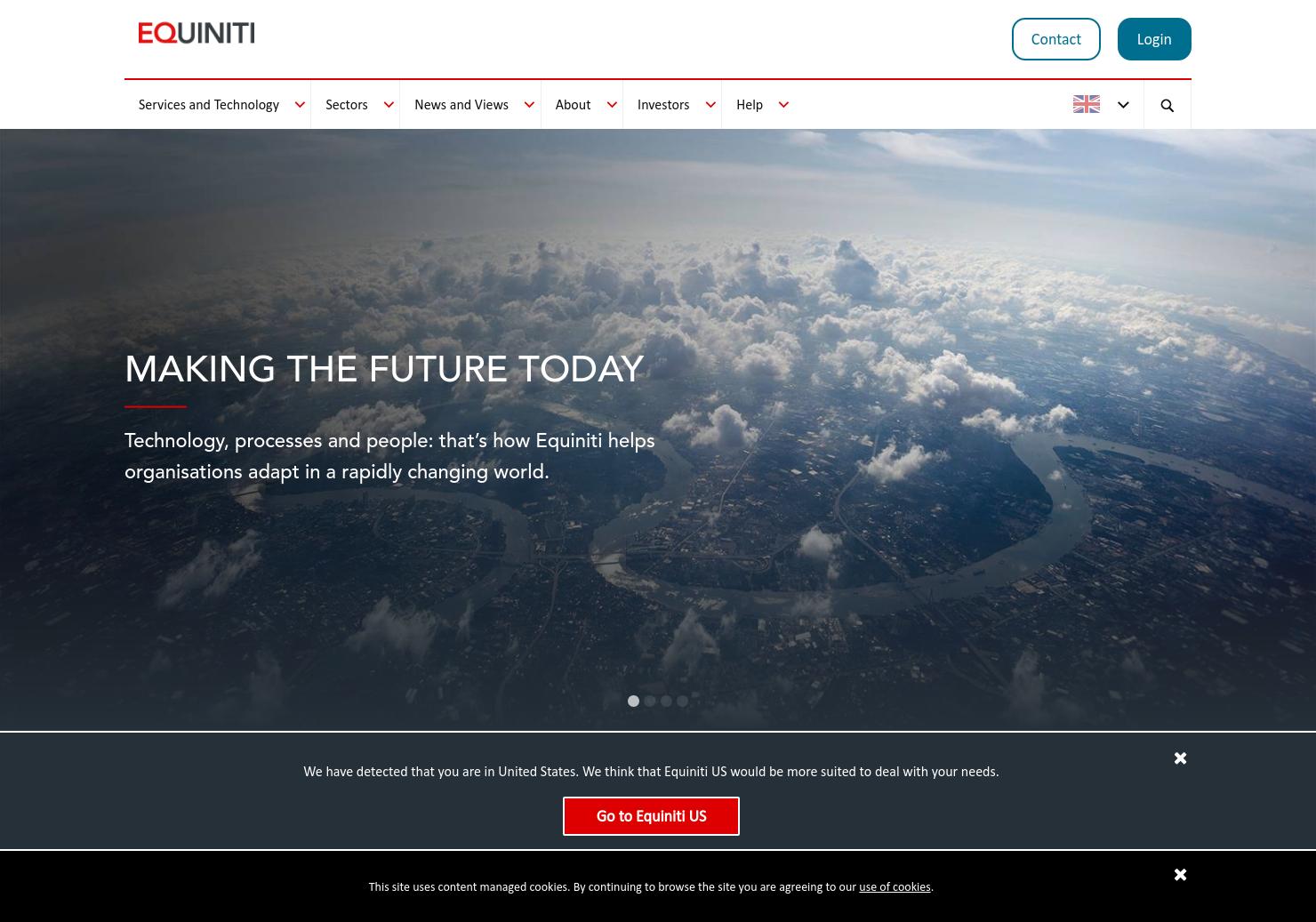 Equiniti Home Page