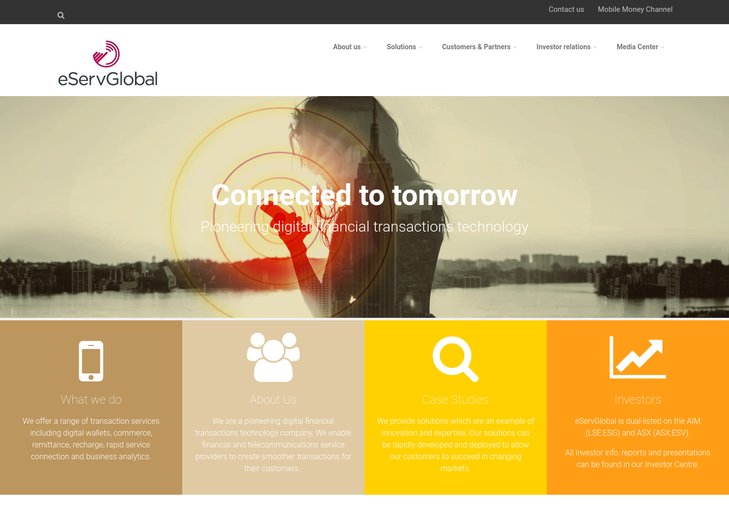 eServGlobal Home Page